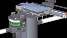 Vue en 3D d'une des gares de la ligne 16 du Grand Paris express