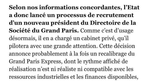 La Cour des comptes publie un rapport alarmant — Grand Paris Express